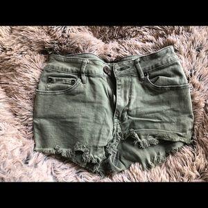 PacSun army green shorts